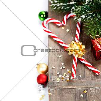 Christmas Candy Canes and decorations