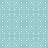Tile vector pattern with white polka dots on mint blue background