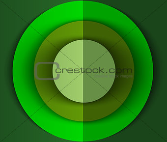 Green abstract circles background for web usage