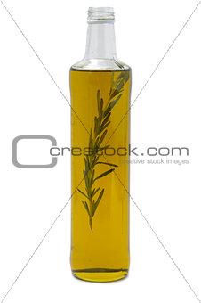 Olive oil bottle on white background isolated template