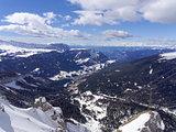 Winter landscape in Ortisei Val Gardena Italy