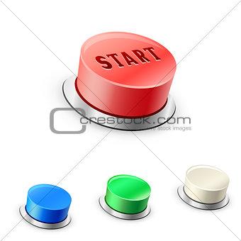 3D mega round buttons