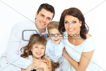 Beautiful happy family