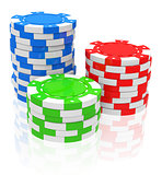 the poker chips