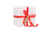 Giftwrapped present isolated