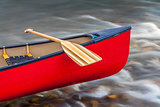 canoe bow with paddle