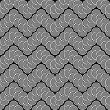 Design seamless monochrome zigzag lacy pattern