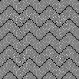 Design seamless monochrome zigzag lacy pattern