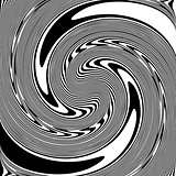 Design monochrome spiral illusion background