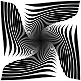 Design monochrome twirl illusion background