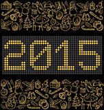 Vector button numbers 2015
