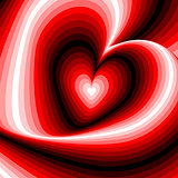 Design heart swirl rotation illusion background