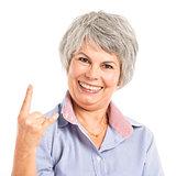 Funny elderly woman