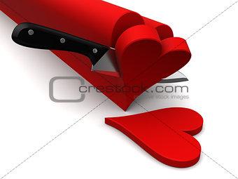 slicing hearts