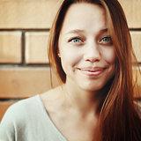 Young beautiful woman smiling