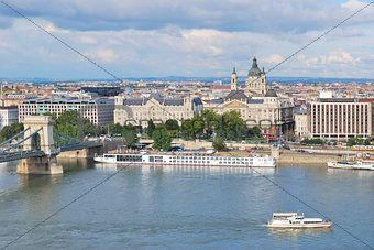 Top-view of Budapest