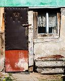 Window and old door