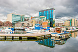 Grand Canal dock in Dublin