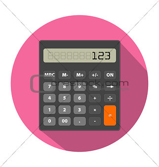 Calculator image in flat style