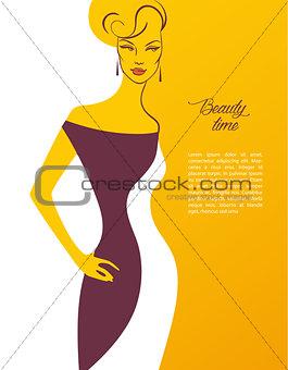 Beautiful woman's silhouette image
