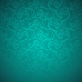 Emerald floral seamless pattern