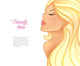 Beautiful blond woman image