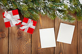 Christmas gift boxes and photo frames
