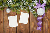 Christmas decor and photo frames