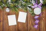 Christmas decor and photo frames