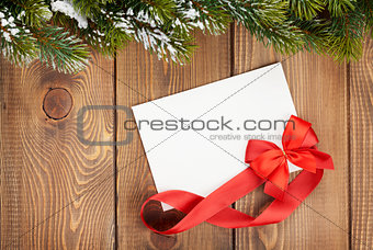 Christmas blank greeting card