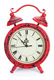 Red christmas clock