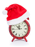 Christmas clock with santa hat