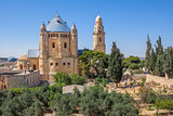 Dormition Abbey in Jerusalem, Israel.
