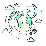 Travel around the earth, transport