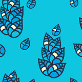 Colorful leaves seamless pattern