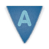 Bunting flag letter A