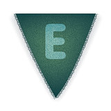 Bunting flag letter E