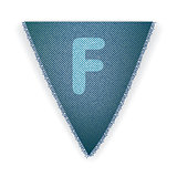 Bunting flag letter F