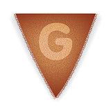 Bunting flag letter G