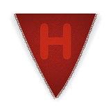 Bunting flag letter H