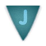Bunting flag letter J
