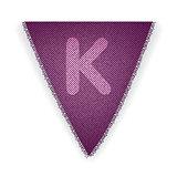 Bunting flag letter K