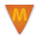 Bunting flag letter M