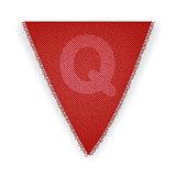 Bunting flag letter Q