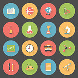 School flat icons set