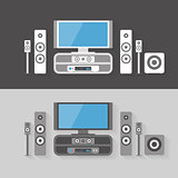 Modern Home Cinema Entertainment with two color kits
