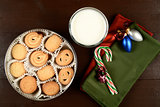 Butter cookies at Christmas