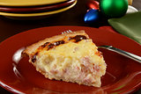 Christmas breakfast quiche