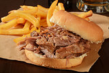 Pork roast sandwich