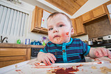 Messy Child Eats